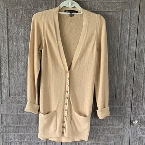 Marc By Marc Jacobs Long Gold Cardigan